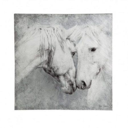 Meeting Horses Indoor Wall Canvas