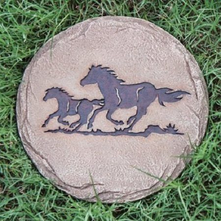 Running Horses Stepping Stone