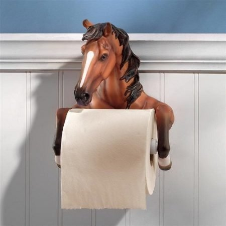 Steady Stallion Bathroom Toilet Paper Holder