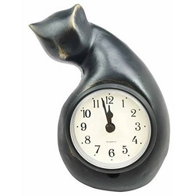 Adorable Feline Cat Abstract Art Table Clock