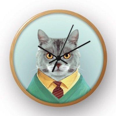 Blik Cat 10 in. Wall Clock