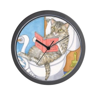 Cat 535 - Unique Decorative 10 inch Wall Clock