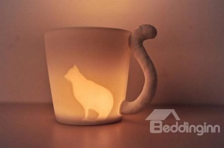 Cat Ceramic Dual Purpose Candle Holder and Coffee Mug