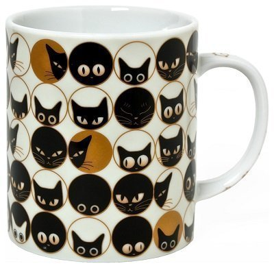 Cat Eyes White Mug