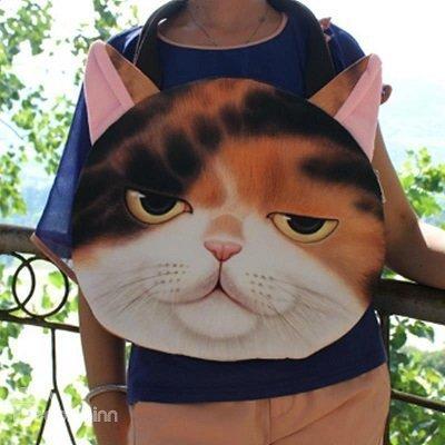 Cat Face 3D Painted Handbag