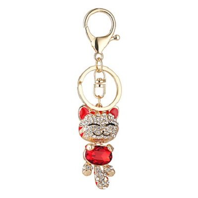 Cat Pendant Lovely Smiling Face Cat Pendant Car Key Chain
