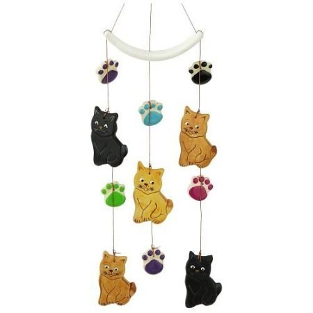 Cats & Paw Prints Ceramic Chime