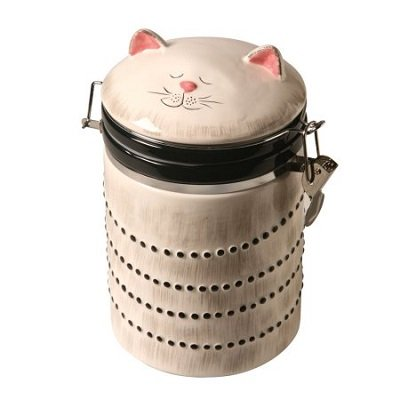 Ceramic Cat Treat Cookie Jar