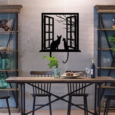 Creative cat silhouettes wall stickers