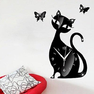 Cute Cat Wall Clock Mute Children Bedroom Wall Clock Creative Decoration