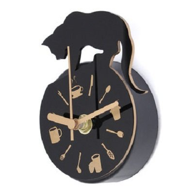 Magnet Clock Refrigerator Kitchen Wall Clock Cat Design