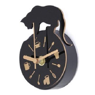 Magnet Clock Refrigerator Kitchen Wall Clock Cat Design