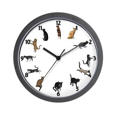 Playful Cats - Unique Decorative 10 inch Wall Clock