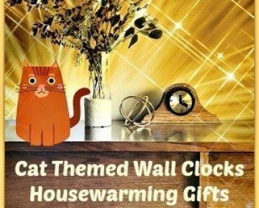 Cat Themed Wall Clocks Housewarming Gifts