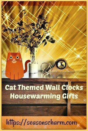 20 Cat Themed Wall Clocks Housewarming Gifts That Make Lovely Decor Items Seasons Charm