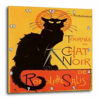 Black Cat Wall Clock 15 inch by 15 inch