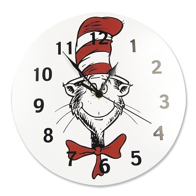 Dr. Seuss CAT IN THE HAT 11 inch Wall Clock