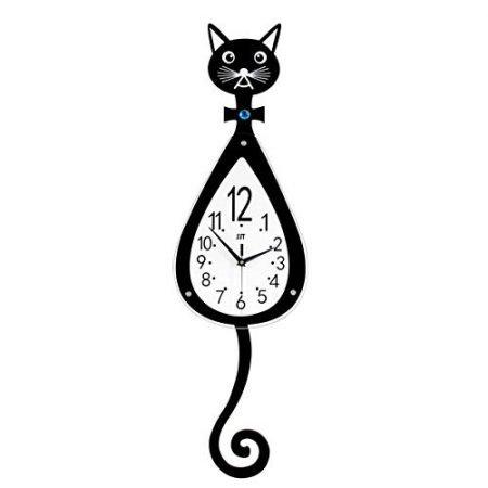 Magshion 3D Cat Decor Wall Clock