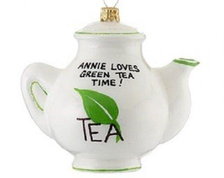 Green Tea Teapot Ornament