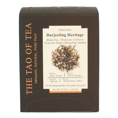 The Tao of Tea, Organic Darjeeling Heritage Tea, Tea Bags, 15 Ct