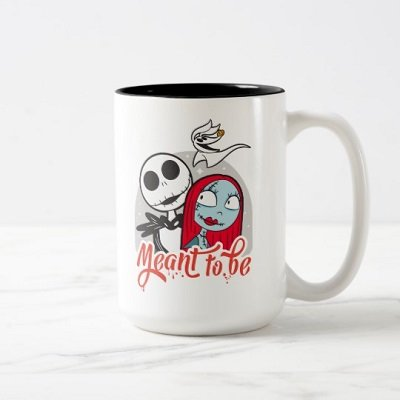 Jack & Sally We Are Meant to Be Two-Tone Coffee Mug