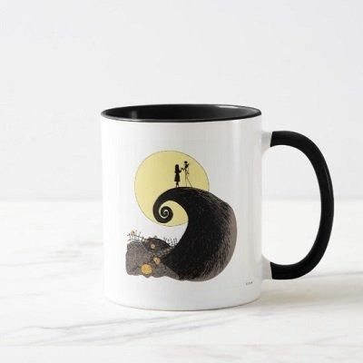 Jack and Sally Moon Silhouette Mug