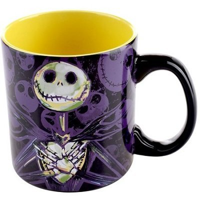 Nightmare Before Christmas, licensed 20 oz. Ceramic Mug, Black and Purple