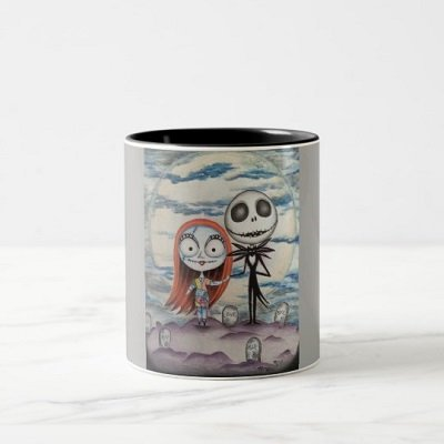 Sally Loves Jack Two-Tone Coffee Mug