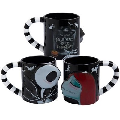 The Nightmare Before Christmas Jack & Sally 2 pc. 20 oz. Sculpted Ceramic Mug Set