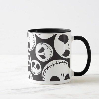 Jack Skellington Skull Swirl Mug