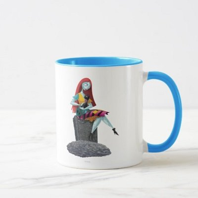 Nightmare Before Christmas Sally And Cat Sitting Mug