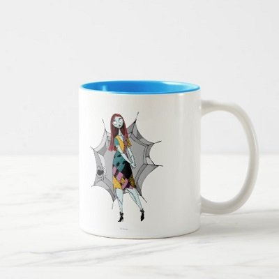 Sally in Spider Web Two-Tone Coffee Mug