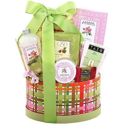 Alder Creek Gift Baskets Tea and Treats Oval Box, 8 pc