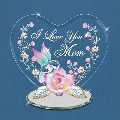 Glass Baron Hummingbird I Love You Mom Figurine