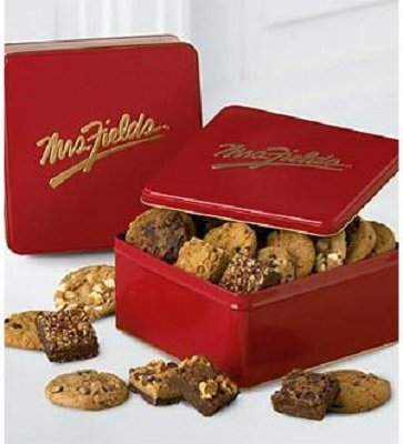 Mrs. Fields Classic Tin with Brownie and Cookie Assortment