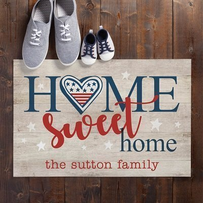 Patriotic Home Sweet Home Doormat