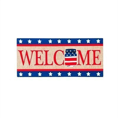 Patriotic Mason Jar Welcome Sassafras Switch Mat