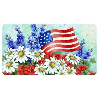 Patriotic Welcome Doormat 18 inch x 30 inch