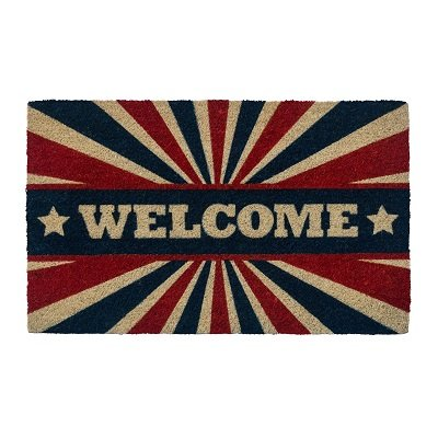 Patriotic Welcome Non Slip Coir Doormat