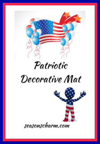 patriotic decorative doormat